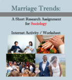 Marriage trends; Sociology worksheet, internet activity, short research