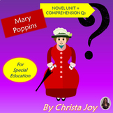 Marry Poppins Novel Unit WITH Comprehension Questions for