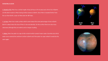 Mars Colonization - Is it Possible? Power Point facts info The Martian