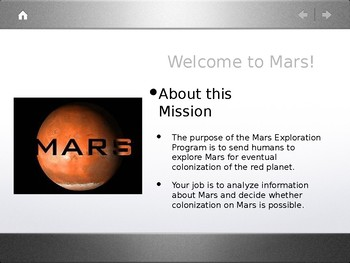 Mars Explorers: Welcome to Mars Powerpoint