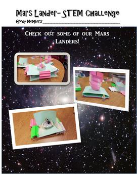 Mars Lander- Space STEM Activity