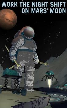 Mars Moon Poster