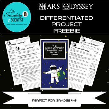 Mars Odyssey Differentiated Project with Fill in the Blank Instructions