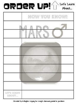 Mars - Order Up! Let's Learn About... Our Solar System