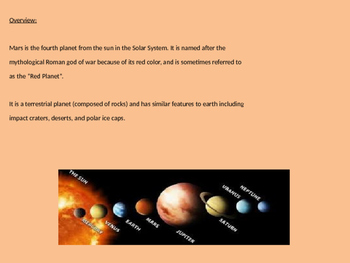 Mars - Planet Power Point all the facts and information