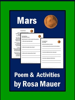 Mars Poem and Comprehension Packet