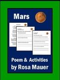 Mars Poem and Comprehension Packet