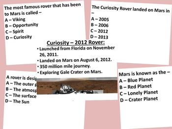 Mars and Rovers