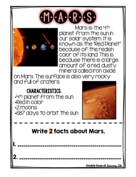 The Solar System: Planet Mars Research Unit with PowerPoint