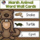Marsh Animals Word Wall Cards