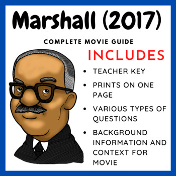 Marshall (2017) -  Complete Movie Guide and Background Worksheet