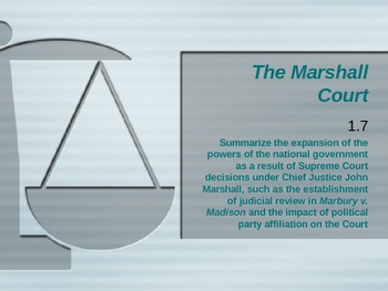 Marshall Court/Marbury v. Madison: US History & Constitution: SC Stand 1.7