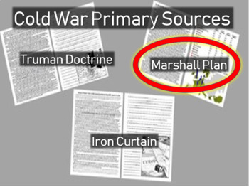 Marshall Plan: Speech, map and statistics  - Cold War Primary Sources