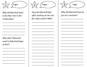 Marshall's Role Trifold - Open Court 3rd Grade Unit 6 Lesson 3