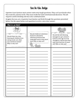 Marshall, the Courthouse Mouse Classroom Activity Guide