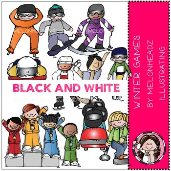 Marsha's winter games by Melonheadz BLACK AND WHITE