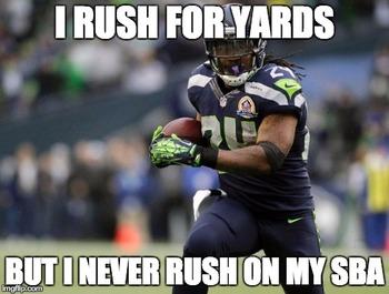 Marshawn Lynch SBA Meme