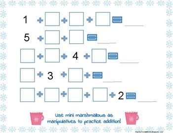 Marshmallow Addition Math