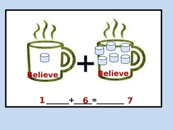 Marshmallow Addition PowerPoint with Student Worksheet