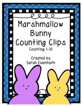 Marshmallow Bunnies Counting Clips