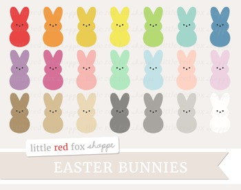 Marshmallow Bunny Clipart; Easter, Dessert