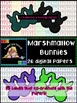 Clipart: Marshmallow Bunny Papers and Labels {Sweet Line Design Clipart}