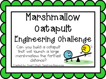Marshmallow Catapult: Engineering Challenge Project ~ Great STEM Activity!