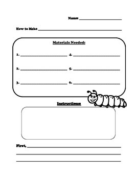 Marshmallow Caterpillar Procedural Writing Exercise