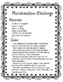Classroom Ice Breaker: Marshmallow Challenge