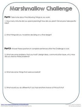 Marshmallow Challenge Back-to-School Activity