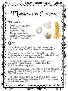 Marshmallow Challenge Handout