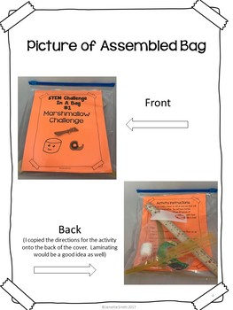 Marshmallow Challenge:  STEM Challenge in a Bag