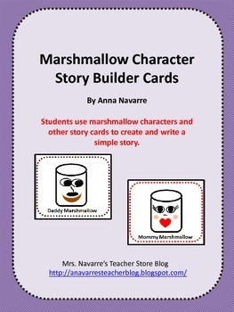 Marshmallow Character Story Builder Cards