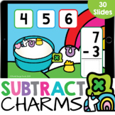 Marshmallow Charms Stacked Subtraction up to 10 Kindergart