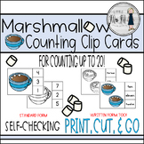 Marshmallow Counting Clip Cards - Hot Cocoa Math!