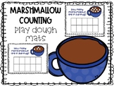 Marshmallow Counting Play Dough Mats