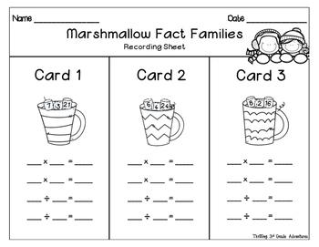 Marshmallow Fact Families!