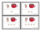 Marshmallow Finger Counting Mats with Finger Counting Cards