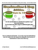 Marshmallow & Hot Chocolate Addition - Sums to 10 - Home S
