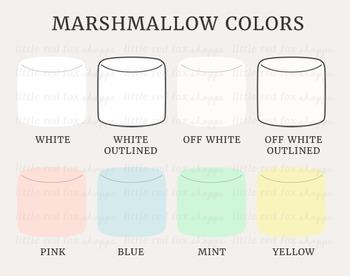 Marshmallow Kit Clipart; Dessert, Kawaii