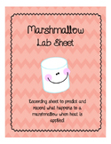 Marshmallow Lab Sheet - Adding Heat Experiment