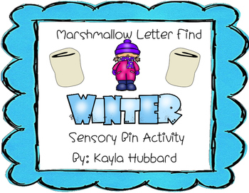 Marshmallow Letter Find Winter Sensory Bin Activity