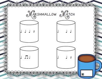Marshmallow Match Aural Interactive Game: Half Note