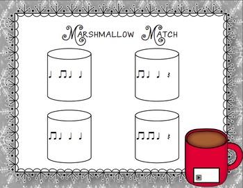 Marshmallow Match Aural Interactive Game: Quarter Rest