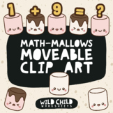 Moveable Marshmallow Math Clip Art for Commercial Use, Num