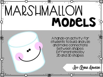 Marshmallow Models {Building Geometric Shapes}