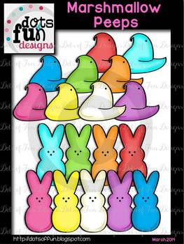 Marshmallow Peeps ~Dots of Fun Designs~
