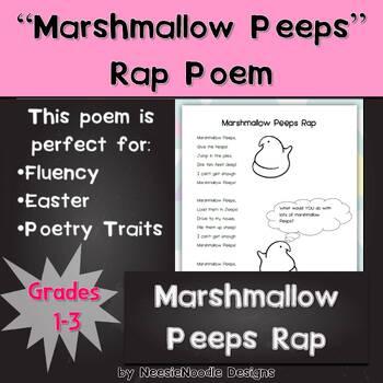 Marshmallow Peeps Rap Poem, Poetry, Literacy