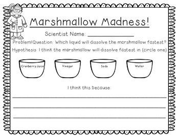 Marshmallow Science: Experiments to practice the Scientific Method