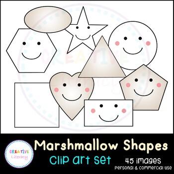 Marshmallow Shapes Clip Art